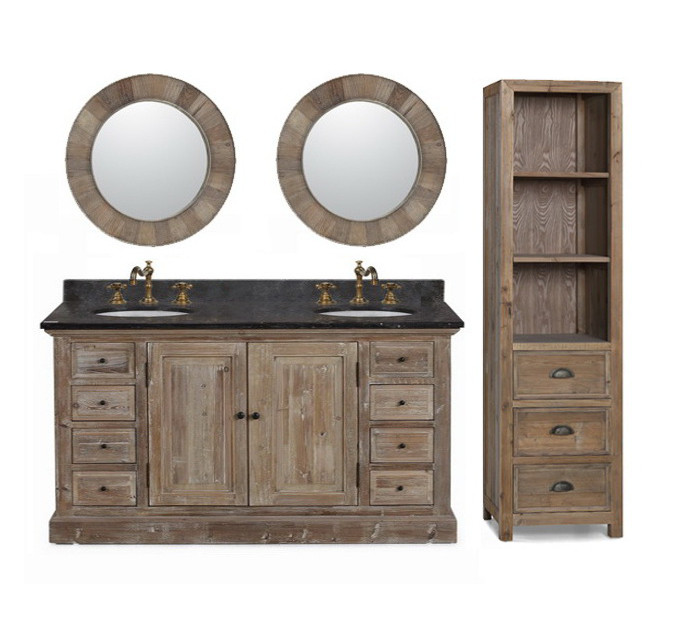 Wk1860 Sink Vanity Wk1810 Side Cabinet Wk1811 Mirror Infurniture