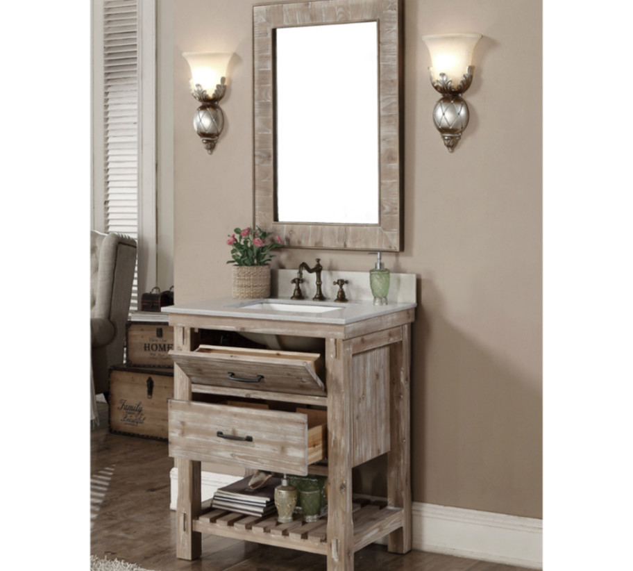 Wk8230 Sink Vanity Wk8126 Mirror Infurniture Vanity