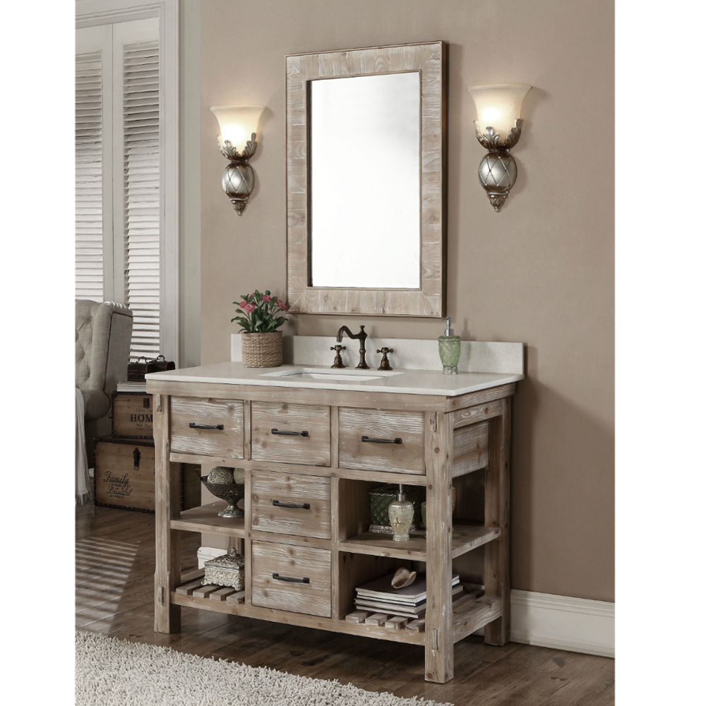 Wk8248 Sink Vanity Wk8126 Mirror Infurniture Vanity Furniture